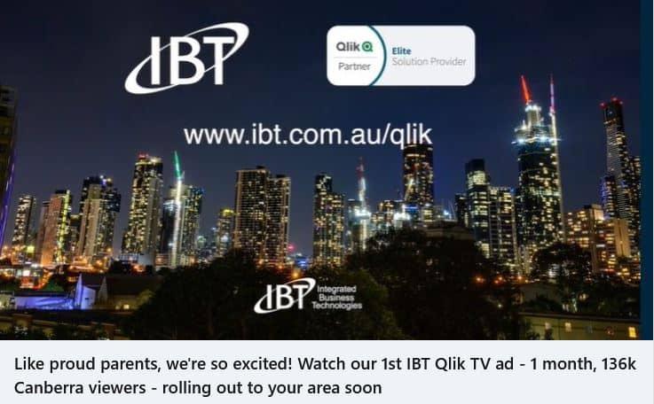 Our very 1st IBT Qlik TV ad!